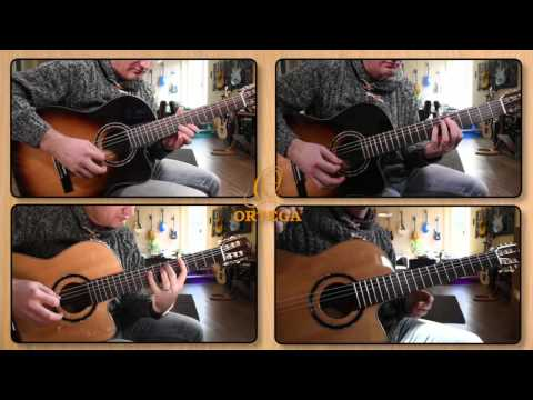 """Ortega Guitars in a """"metal"""" track - The Acoustic Version of """"Midnight Sky Masquerade"""""""