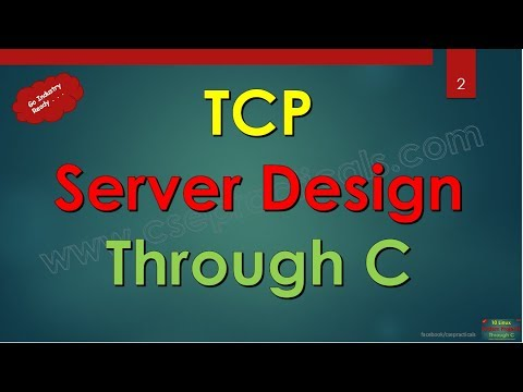 Step by step developing TCP Server in C