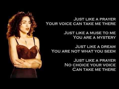 Madonna - Like A Prayer (Lyrics On Screen)