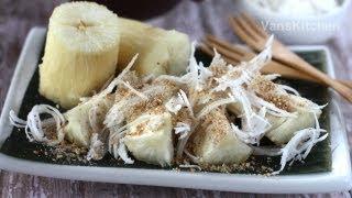 Khoai mi hap (Steamed cassava)