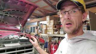 In the shop fixing BIG RED . update and info on my shoulder surgery by theTIVANshow