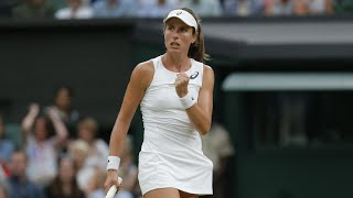 Johanna Konta fought back from a set down to beat No2 seed Simona Halep 6-7 (2), 7-6 (5), 6-4 on Tuesday and reach the last four of Wimbledon. Konta is the first British woman to reach the semi-finals at Wimbledon since Virginia Wade in 1978. There she will face five-time Wimbledon champion Venus Williams after the American beat Jelena Ostapenko. 2015 finalist Garbiñe Muguruza will take on Magdalena Rybarikova in the other semi