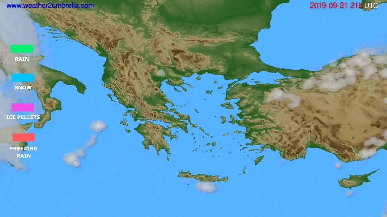 Precipitation forecast Greece // modelrun: 00h UTC 2019-09-20