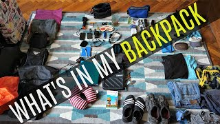 CHECK OUT MY PACKING LIST BELOW---------- Main Luggage---------- Osprey Porter 46: https://goo.gl/qSsX4sRain Cover: https://goo.gl/839u9q---------- Organize Your Gear---------- Packing cubes: https://goo.gl/yLYqPfWash bag: https://goo.gl/ZiNWkpShoe bag: https://goo.gl/c9MxvW---------- Technology---------- Cheap mobile phone: https://goo.gl/oxrL2o Water proof phone case: https://goo.gl/3hPEz3Thule Laptop Case: https://goo.gl/gt2TNLKindle Paper White: https://goo.gl/aECAkPCamera: https://goo.gl/fohrU2Go Pro: https://goo.gl/QM7CGiHeadphones: https://goo.gl/MNDdHoIpod: https://goo.gl/Hr3pV5long USB charger: https://goo.gl/Gve7KzHDMI lead: https://goo.gl/PnX7wxHard Drive: https://goo.gl/BMZyB1Padlock: https://goo.gl/kLk8ZxTravel adapter: https://goo.gl/3es7raMoney clip: https://goo.gl/jWwPP3Kinfe: https://goo.gl/KPAMgu---------- The Basics----------  Lightweight clothing that can be layeredLong-sleeved shirtsSweaters or fleece jacketT-shirtsPants and/or shortsBelt Socks Flip flops: https://goo.gl/f4s36kComfortable walking shoes: https://goo.gl/ZigTNCMicro fiber towel: https://goo.gl/VyuWiyRain jacket: https://goo.gl/YNmbeRUnderwearSunglasses: https://goo.gl/zMFPTPGlasses case: https://goo.gl/6SwPNzHat swim trunks – consider a wet/dry organizer---------- Toiletries---------- Toothbrush, toothpasteHair brush or combDeodorantNilodor: https://goo.gl/g9dFCfShampoo and conditioner Sunscreen and face lotion with SPFFace wash Night time Moisturizer/LotionLip balm with SPF AftershaveMedicine'sShaver you know how expensive razors are:  https://goo.gl/f2PFo8sun creammini first aid kit: https://goo.gl/7Nh9cr---------- Extra Travel Comfort---------- Eye mask and ear buds: https://goo.gl/N8PkmcTravel journal and pen (it's awful when you forget your pen!)Deck of cards and travel gamesWater bottle Guide books, travel guides, maps, language guides, ----------NEED MORE TRAVEL TIPS? Check out: http://www.backpackyack.com  ---------- This is my travel forum where you can join a fun communit