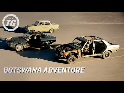 adventure - Jeremy Clarkson, Richard Hammond and James May prepare for their epic adventure across the Botswanan salt flats. Never crossed by a car before, the Top Gear ...