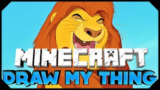 Minecraft: ATTEMPTING TO DRAW AN AMAZING LION MUFASA THING | Draw My Thing w/AciDic BliTzz