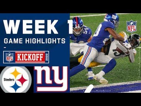 Giants vs Steelers Week 1- Highlights | NFL 09/14/2020 (1st)