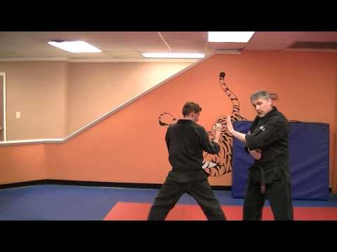 Hugging Pendulum – Kenpo self defense technique for a right sidekick