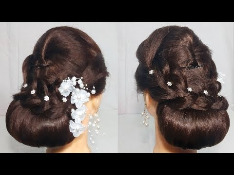 Hairstyles for long hair - New Low Bun Hairstyle For party/Wedding  Easy hairstyle For Long Hair 2019  hair style girl
