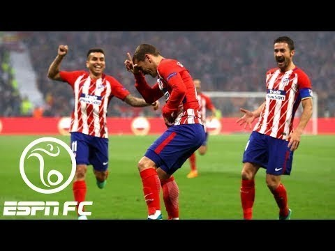 MARSEILLE  VS Atletico Madrid 0-3 Europa League Final | PES 2018 FULL HD