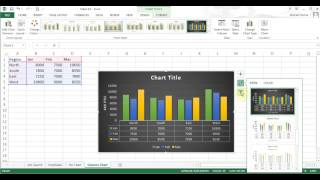 Microsoft Excel 2013 pt 9 (Pie/Column Chart, Pivot Table)