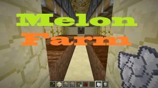 Docm77´s Minecraft Tutorial: Semi Automated Melon Farm