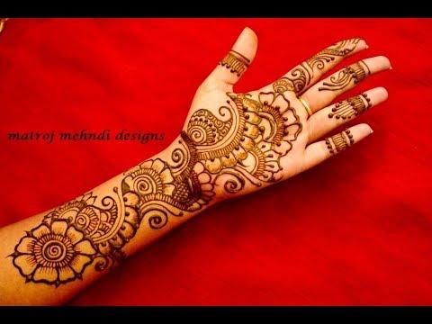 beautiful full hand arabic bridal mehndi design