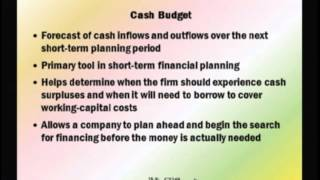 Financial Management: Lecture 23, Chapter 18 - Short-Term Finance And Planning