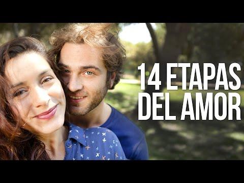 Pareja muestra las 14 etapas de una relación