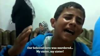 SNN | Syria | Dar'aa | Child In Anguish After Sister Killed By Regime Forces | Sep 22, 2012