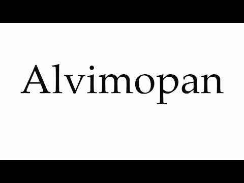 How to Pronounce Alvimopan