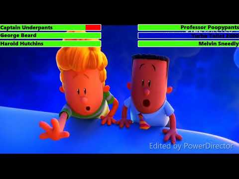 Captain Underpants: The First Epic Movie Final Battle with healthbars (Birthday Special)