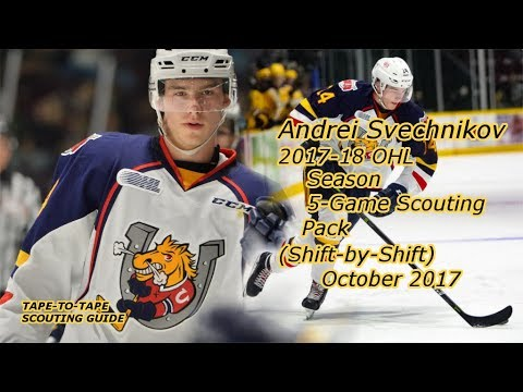 Andrei Svechnikov:  2017-18 Five-Game Shift-By-Shift Scouting Pack [OHL, Barrie Colts]