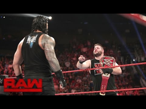 Roman Reigns confronts Kevin Owens: Raw, Sept. 5, 2016