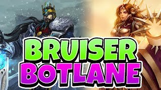 BRUISER BOTLANE META TRYOUT! TAKING TRYNDAMERE TO BOTLANE! - League of Legends Full Gameplay