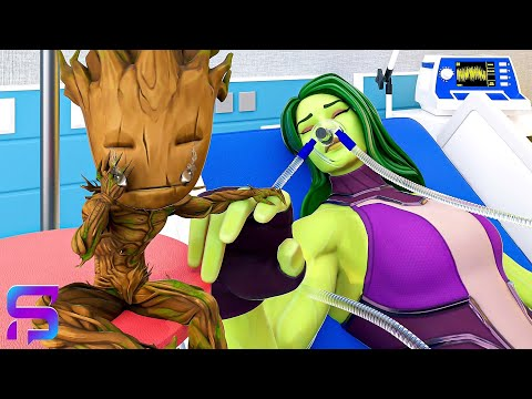 BABY GROOT'S MOM IS IN A COMA.... ( Fortnite Short  )