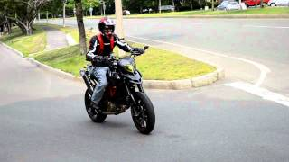 6. Carbon Fiber Ducati HyperMotard 1100 evo sp riding 720p