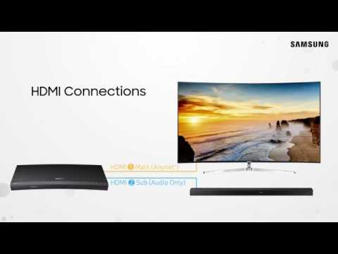 Samsung 4K Ultra HD Blu ray Player - Connections and Onscreen Setup