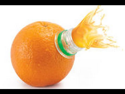 想喝柳橙汁卻沒有榨汁器 達人教你用寶特瓶就搞定
