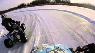 7. 2006 Yamaha YFZ 450 ice track.