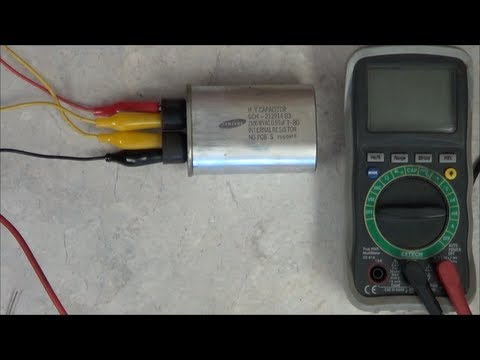 how to test microwave h.v capacitor
