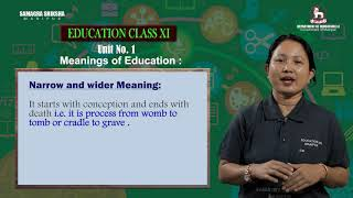 Unit 1 - Meaning of Education