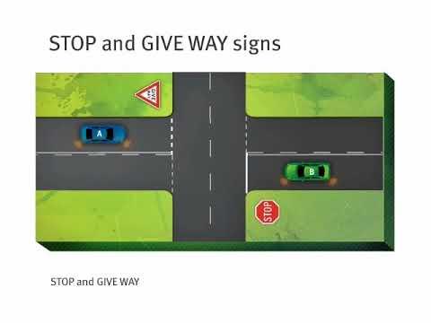 Queensland Road Rules – giving way