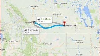 Strathmore (AB) Canada  city photo : Strathmore AB to Regina SK in 7 minutes Canada