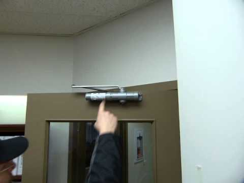 how to adjust hydraulic door closer