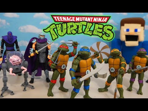 Rise Of The CLASSIC Teenage Mutant Ninja Turtles 1980's Cartoon Figures Unboxing!