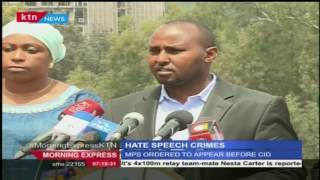Morning Express KTN: Analyzing hate speech remarks on The way it is, Tuesday 14th June 2016