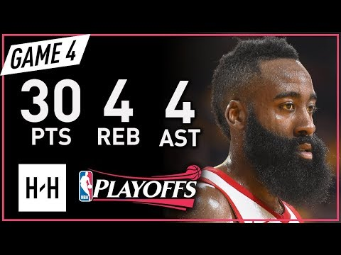 James Harden Full Game 4 Highlights vs Warriors 2018 NBA Playoffs WCF - 30 Pts, 4 Ast, 4 Reb! (видео)