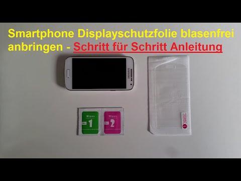 Panzerglas Folie fürs Smartphone blasenfrei anbringen - Handy Schutzfolie aufkleben / Anleitung 📱