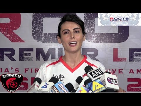 Ex-Bigg Boss contestant Mandana Karimi At Inauguration Of Roots Premier League Spring Season 2018
