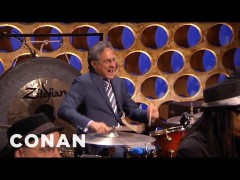max - CONAN Highlight: The Basic Cable Band's drummer James Wormworth has gone missing. Luckily there's a stand-in hanging out in the audience. More CONAN @ http://teamcoco.com/video Team Coco ...