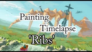 Timelapse Digital Painting #02, 'Ribs' (x10)