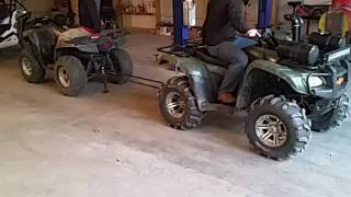 3. Honda Foreman 500 vs kawasaki brute force 750 tug o war
