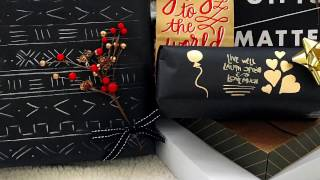 3 Ways to Wrap Presents in Black Paper
