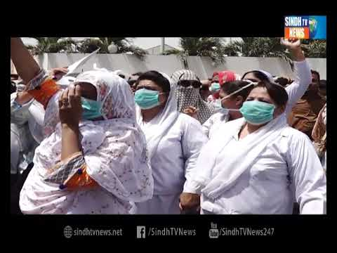 Karachi nursing protest - Package - Sindh TV News