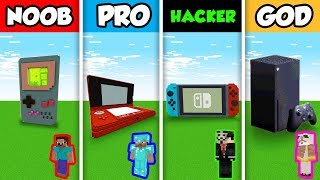 NOOB vs PRO vs HACKER vs GOD : NEXT GEN XBOX CHALLENGE in Minecraft! (Animation)