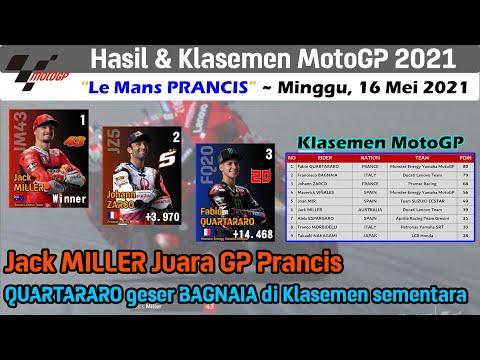 Hasil Full Race MotoGP Prancis 2021 ~ Klasemen MotoGP Terbaru GP Le Mans Prancis 2021