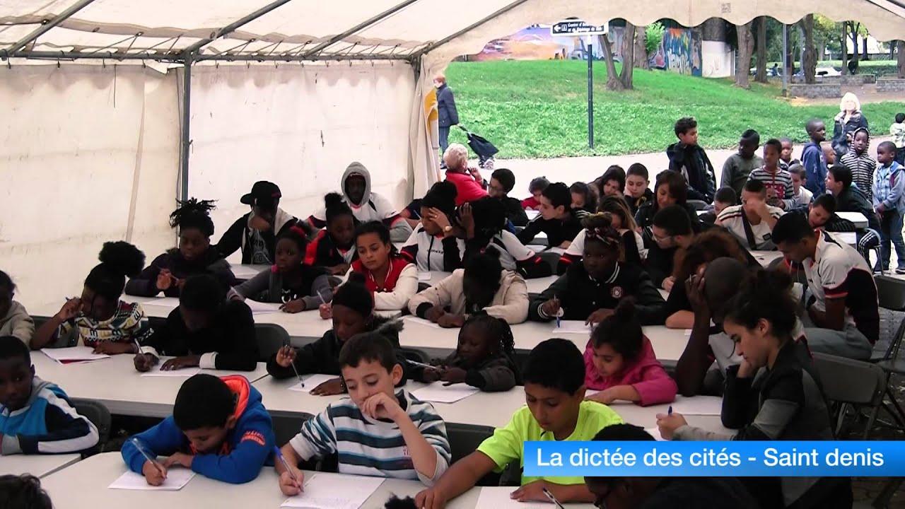 Saint-Denis : la dictée des cités