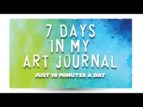 Journal - I work on my art journal in small bursts each day. I decided to film myself for seven days, working in my journal, so you could get a sense of how things com...