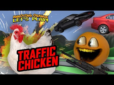 Video Traffic Chicken [Annoying Orange Plays] download in MP3, 3GP, MP4, WEBM, AVI, FLV January 2017